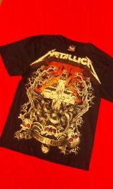 ロックTシャツ メタリカ METALLICA Master of puppets S/M/L/XL メタルマスタ−/バンT/ヘビ−メタル/ハ−ドロック/HM/HR
