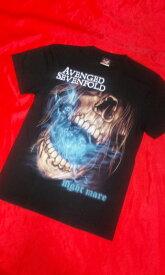 ロックTシャツ AVENGED SEVENFOLD S M L/バンT/バンドTシャツ/ハ−ドロック/HM/HR/ヘビ−メタル