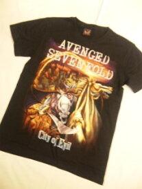 ロックTシャツ AVENGED SEVENFOLD City of Evil S M L/バンT/バンドTシャツ/ハ−ドロック/HM/HR/ヘビ−メタル
