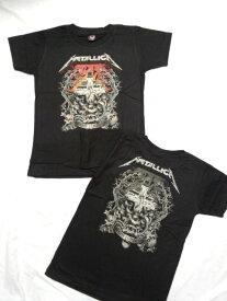 KIDS ロックTシャツ METALLICA(メタリカ) Master of puppets S(115)/M(130)/L(140)/黒/ブラック/バンドTシャツ/ロックTシャツ/バンT/子供服/ヘビーメタル