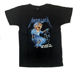 KIDS ロックTシャツ METALLICA(メタリカ)THEIR MONEY TIPS HER SCALES AGAINR 6-8(115)/8-10(130)/10-12(140)/黒/ブラック/バンドTシャツ/子供服/バンT