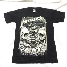 アメコミ風 ロックTシャツ METALLICA(メタリカ) スカル M L XL /バンT/黒/HM/半袖/ヘビ-メタル/髑髏