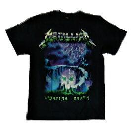 ロックTシャツ METALLICA(メタリカ) CREEPING DEATH  S M/L XL バンT ヘビ−メタル ハ−ドロック HM HR スカル 髑髏