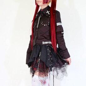 ACDC RAG PUNK系 NEW スカルスカート 黒/KERA系/パンク系/V系