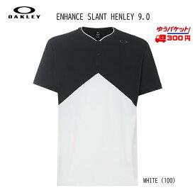 オークリー Tシャツ OAKLEY Enhance Slant Henley 9.0 [457723-100]
