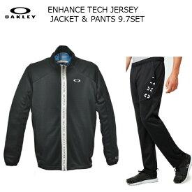 オークリー トレーニング ジャケット パンツ セットアップ ブラック Enhance Technical Jersey Jacket 9.7&Pants9.7 472583-422632-02E-set