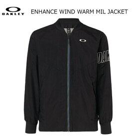 オークリー アウター ジャケット ブラック OAKLEY ENHANCE WIND WARM MIL JACKET 412819-02E