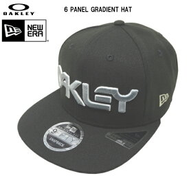 オークリー ニューエラ キャップ OAKLEY 6 PANEL GRADIENT HAT スナップバック ブラック FOS900145-03D