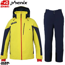 フェニックス スキーウエア イエロー ダークネイビー PHENIX Demo Team Jacket YE1 + Demo Team 3D Pants DN2 PFA72OT12-PFA72OB12-YE1-DN2set