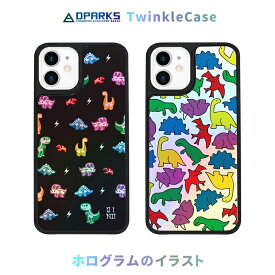 国内正規品 Dparks ディーパークス iPhone 12 mini(5.4インチ)TWINKLE COVER ザウルス ホログラム加工のキラキラ光るイラスト DS19767i12 DS19768i12