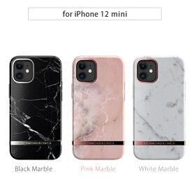 国内正規品 Richmond & Finch iPhone 12 mini(5.4インチ) FREEDOM CASE マーブル 大理石柄にメタルプレートがポイント RF19301i12 RF19302i12 RF19303i12
