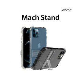 国内正規品 araree iPhone 12 mini(5.4インチ)Mach Stand 便利な折りたたみ式スタンドがついているソフトクリアケース AR20327i12MN AR20328i12MN