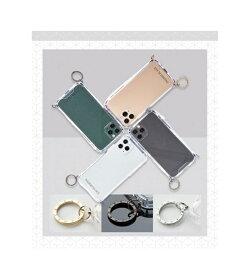 国内正規品 PHONECKLACE iPhone 8 iPhone 7 iPhone SE 第2世代 ストラップ取り付け用リング付きクリアケース PC20579i9 PC20580i9 PC20581i9