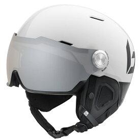 bolle (ボレー) ヘルメット MIGHT VISOR PREMIUM 19-20 マイト バイザー プレミアム シャイニーホワイト&ブラック ボレー bolle 31845 31846