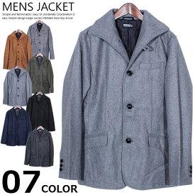 メンズ ウールメルトンイタリアンカラージャケット 防寒 JKT メルトンジャケット コート 紳士服 M L XL mens【送料無料】「83807」
