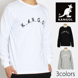 《クリアランス》メンズ KANGOL カンゴール 長袖Tシャツ ロンT ロゴプリントロンT クルーネック 丸首「LCT0029」
