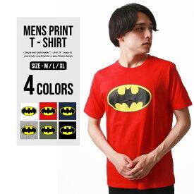 メンズ BATMAN 柄込みTシャツ 半袖Tシャツ プリントTシャツ 【メール便 送料無料】「BS29-104」