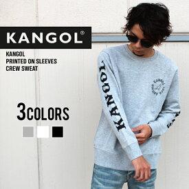【送料無料】 メンズ カンゴール KANGOL ロゴプリント トレーナー 長袖 クルーネック スウェット スエット「LCK0037」