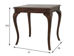 【送料無料】ウェールウェールコーヒーテーブル猫足ネコ脚アンティーク調クラシック家具机テーブルダークブラウンブラウン完成品組立不要高級(28581)【KR】