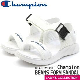 【チャンピオン】 サンダル ビーンズフォームサンダル ホワイト レディース スポーツサンダル スポサン 白系 カジュアル シンプル 厚底 軽量 Champion CP ACT023 BEANS FOAM SANDAL WHITE