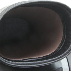 【長靴第一ゴム】メンズショート丈防寒長靴エルゼG330黒防滑完全防水冬用雪道除雪インソールウレタン裏金剛砂配合セラミック底日本製