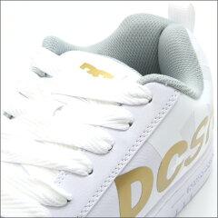 【DCシューズ】ローカットスニーカーメンズコートグラフィックSEホワイト/ゴールドMEN'SCOURTGRAFFIKSEWHITE/GOLD300927WG1ディーシー