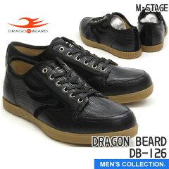 【DRAGONBEARD】DB-126(ドラゴンベアード)BLKカジュアルシューズローカットスニーカーメンズ