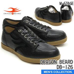 送料無料【ドラゴンベアード】DRAGON BEARD DB-126 BLK カジュアルシューズ ローカット スニーカー メンズ