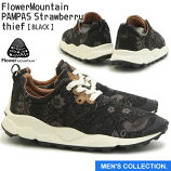 【FlowerMountain】PAMPASStrawberrythiefFM03011BLACK(フラワーマウンテンパンパスいちご泥棒ブラック)ユニセックス・メンズサイズ