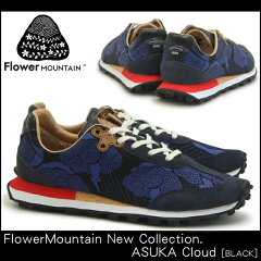 【FlowerMountain】ASUKACloudFM06002BLACK(フラワーマウンテン飛鳥雲ブラック)倉敷帆布刺し子ユニセックス・メンズサイズ