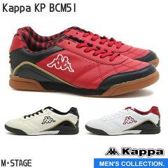【Kappa】カッパKPBCM51メンズローカットスニーカーBK/REDIVY/BLACKW/WINEシンプル赤黒白