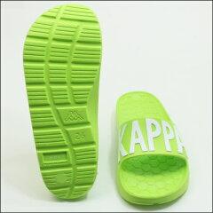 【SKappa】カッパシャワーサンダルセルビーレ(ブラック・ライム・ホワイト/ブラック)EVA軽量ビッグロゴフッドヘッドユニセックスメンズサイズKappaKPBRU57