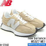 【newbalance】ニューバランスNBMS327ME1BEIGE幅:Dローカットスニーカーメンズサイズベージュカジュアル男女兼用メッシュランニングビッグロゴ