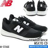【newbalance】ニューバランスMSX70CD(幅:D)BLACKX70ランニングクラシックカジュアルメンズサイズ