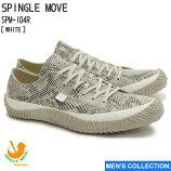【SPINGLEMOVE】スピングルムーブSPM-104RWHITE(ホワイト)madeinjapanハンドメイド手作りスニーカー革靴復刻スネーク蛇メンズ