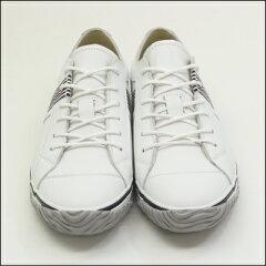 【SPINGLEMOVE】スピングルムーブSPM-168WHITE/NAVY(ホワイト/ネイビー)[メンズサイズ]madeinjapanハンドメイド手作りスニーカー革靴レザー白【送料無料】
