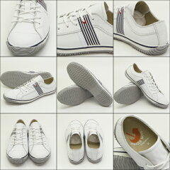 ポイント10倍!【SPINGLEMOVE】スピングルムーブSPM-168WHITE/NAVY(ホワイト/ネイビー)[メンズサイズ]madeinjapanハンドメイド(手作り)スニーカー(革靴)【送料無料】