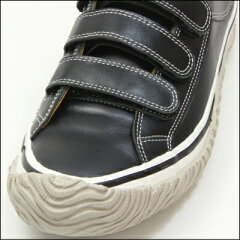 【SPINGLEMOVE】スピングルムーブSPM-211BLACK(ブラック)[メンズサイズ]madeinjapan日本製ハンドメイド手作りスニーカー革靴ローカットロウカットベルクロ紐なし人気カラー黒【送料無料】