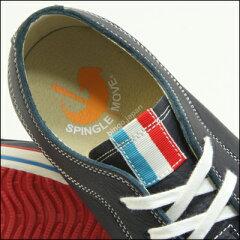 ポイント10倍!【SPINGLEMOVE】スピングルムーブSPM-385NAVY(ネイビー)madeinjapanハンドメイド手作りスニーカー革靴メンズ