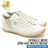送料無料【スピングルムーブ】SPINGLEMOVESPM-241WHITEホワイトスニーカーメンズローカット革靴無地白系madeinjapan日本製手作りハンドメイド