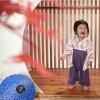 日本的巫女◆儿童萨满式连衫裤(发带/花纹/彩色转换/日式服装/和服/正式/结婚典礼/婴儿/礼物/分娩祝贺/婴儿装)