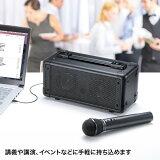【送料無料】会議や講義、イベントなどで手軽に使えるワイヤレスマイク付き拡声器スピーカー[MM-SPAMP4]【サンワサプライ】02P07Feb16