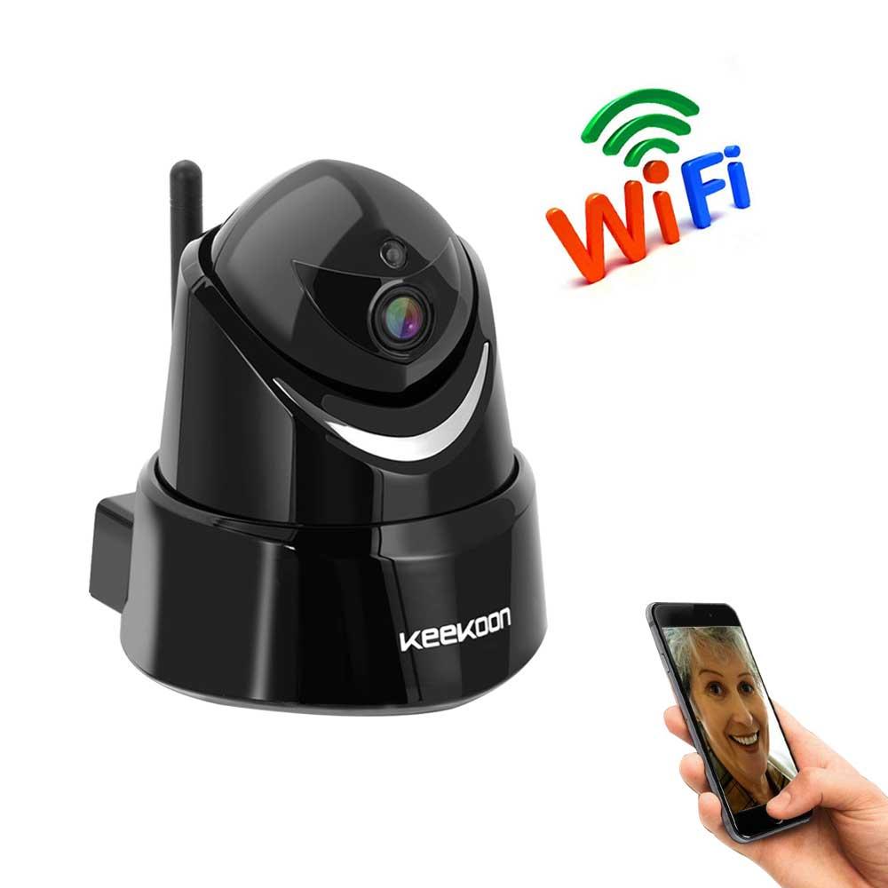 【送料無料】小型ネットワークカメラ Keekoon 監視カメラ WIFI Android/iOS/PC対応 ベービーモニター1080P ペット 見守り 暗視撮影 マイク内蔵通信可能 音声双方向 動体検知 警報機能 防犯カメラ ギフト ペットカメラ
