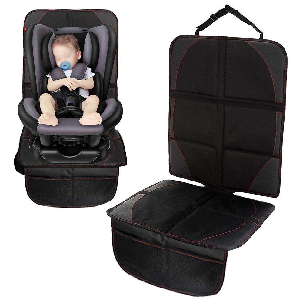 チャイルドシートマット シートカバー 車保護シート チャイルドシート座席保護 オックスフォード生地 防水 滑り止め 取り付け簡単 安全