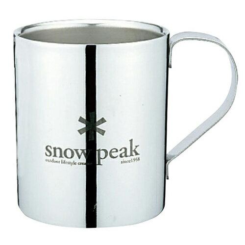 【ポイント5倍】スノーピーク snowpeak スノーピークロゴダブルマグ 330品番:MG-113R【春一番セール 02/08/11:00〜02/18/10:59】