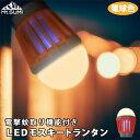 『LEDモスキートランタン』 電撃蚊取り機能付きランタン 充電式 ランタン LED ライト USB 充電 充電式 暖色 暖かい電…
