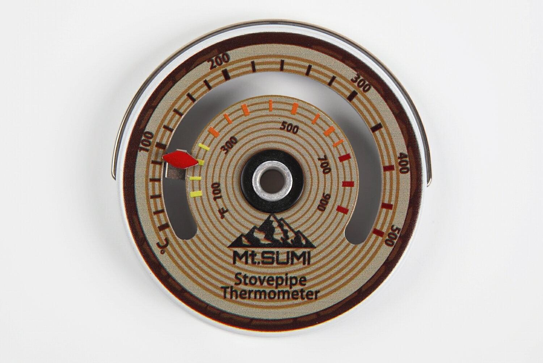 【送料無料】薪ストーブ用 温度計 マグネット/ネジ式 おしゃれ ストーブ用 アクセサリー 石炭ストーブ ペレットストーブ バイオマスストーブにも適応
