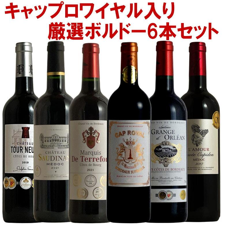 【全て格上】ソムリエチームの厳選ボルドー6本! ボルドー 金賞入り ワイン セット 赤 6本セット