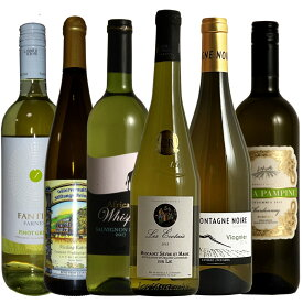 【世界の主要品種飲み比べ白6種】ワインが解る近道!各ぶどう品種の特徴を楽しむ単一品種飲み比べ6本セット! ギフト プレゼント 750ML