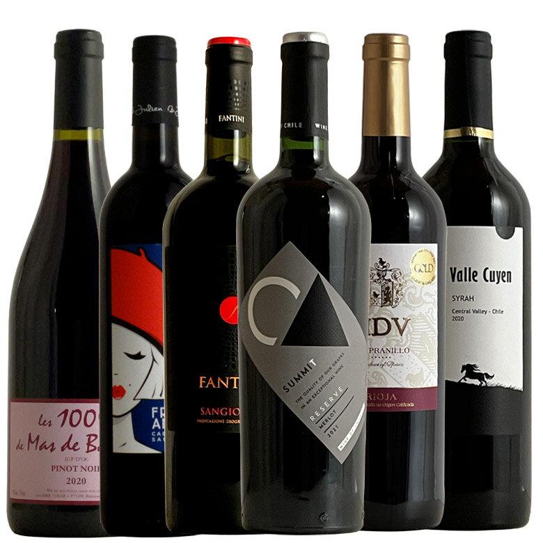 【世界の主要品種飲み比べ赤6種】ワインが解る近道!これであなたもソムリエ気分!
